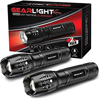 2-Pack GearLight S1000 LED Tactical Flashlight