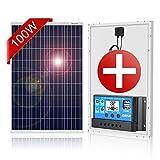 DOKIO Panel Solar 100W Polykristallin 12V Módulo solar con Controlador para casas...