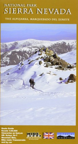 Sierra Nevada National Park West 1:40 000 La Alpujarra, Marquesado Del Zenete