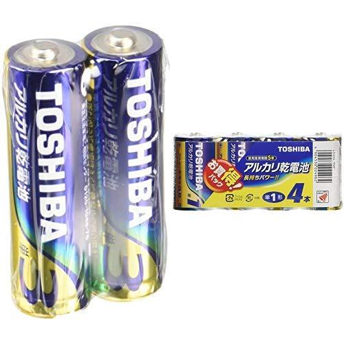 【セット買い】東芝 アルカリ乾電池 単3形1パック100本入 LR6L100P & アルカリ乾電池 単1形1パック4本入 LR20L 4MP