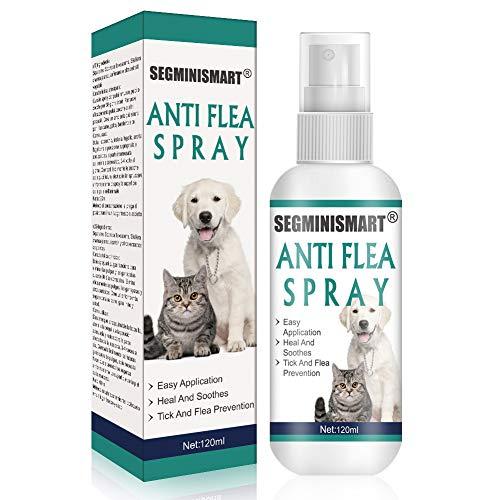 SEGMINISMART Pulgas Spray,Flea Spray,Anti pulgas,Spray de protección contra pulgas,Apto para Perros y Gatos,Spray de protección contra pulgas y garrapatas para Perros