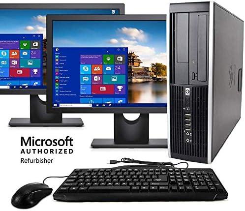 HP Desktop Computer, Intel Core i5 3.1GHz, 8GB RAM, 512G SSD, Keyboard & Mouse, Wi-Fi, Dual 19in LCD Monitors (Brands Vary), DVD-ROM, Windows 10(Renewed)