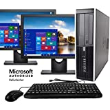 HP Elite Business Desktop Computer Tower PC (Intel Ci5-2400, 8GB Ram, 1TB HDD, Wireless WiFi, DVD-ROM, Keyboard Mouse) 24inch Dual LCD Monitor Brands Vary, Windows 10 (Renewed)