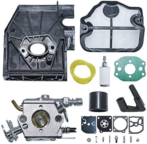 ZW18U Carburador Compatible C1q-W29E Adaptador de carburador Adaptador Juego de reparación de Arranque de Ojal para Husqvarna 136 137 141 142 Motosierra Reemplace 530071987 Renovación de carburador