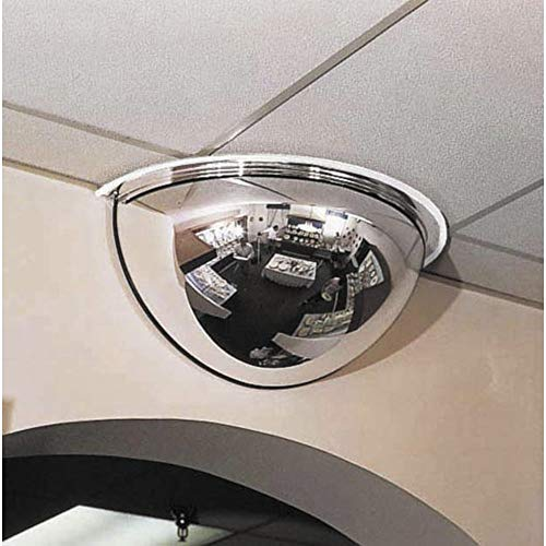 See All PV18-180 Panaramic Full Dome Plexiglas Security Mirror, 180 Degree Viewing Angle, 18' Diameter (Pack of 1)