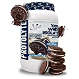 VMI Sports ProtoLyte 100% Whey Isolate Protein Powder, Milk & Cookies, 1.63lb, with Amino Acids, Electrolytes, Enzymes, High Protein, Lactose Free, Low Sugar