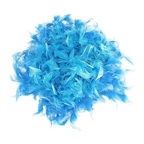 mi ji 2 Metros Turquía Boa de Plumas Azul Chandelle la Boa de Plumas para la decoración del Partido del Traje para su casa