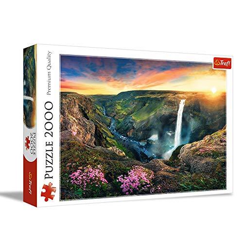 Trefl, Puzzle, Wasserfall Haifoss, Island, 2000 Teile, für Kinder ab 12 Jahren
