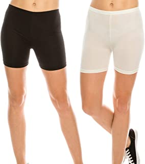 THEGARIM Slip Shorts 2 Pack Cool and Smooth Panties for Women Plus Size Boyshorts Leggings Yoga L ~ 7XL