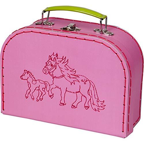 Die Spiegelburg 15311 Spielkoffer Mein Kleiner Ponyhof (gestickte Ponys)