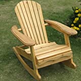 Trueshopping Little Bowland Adirondack Rocking chair en bois naturel