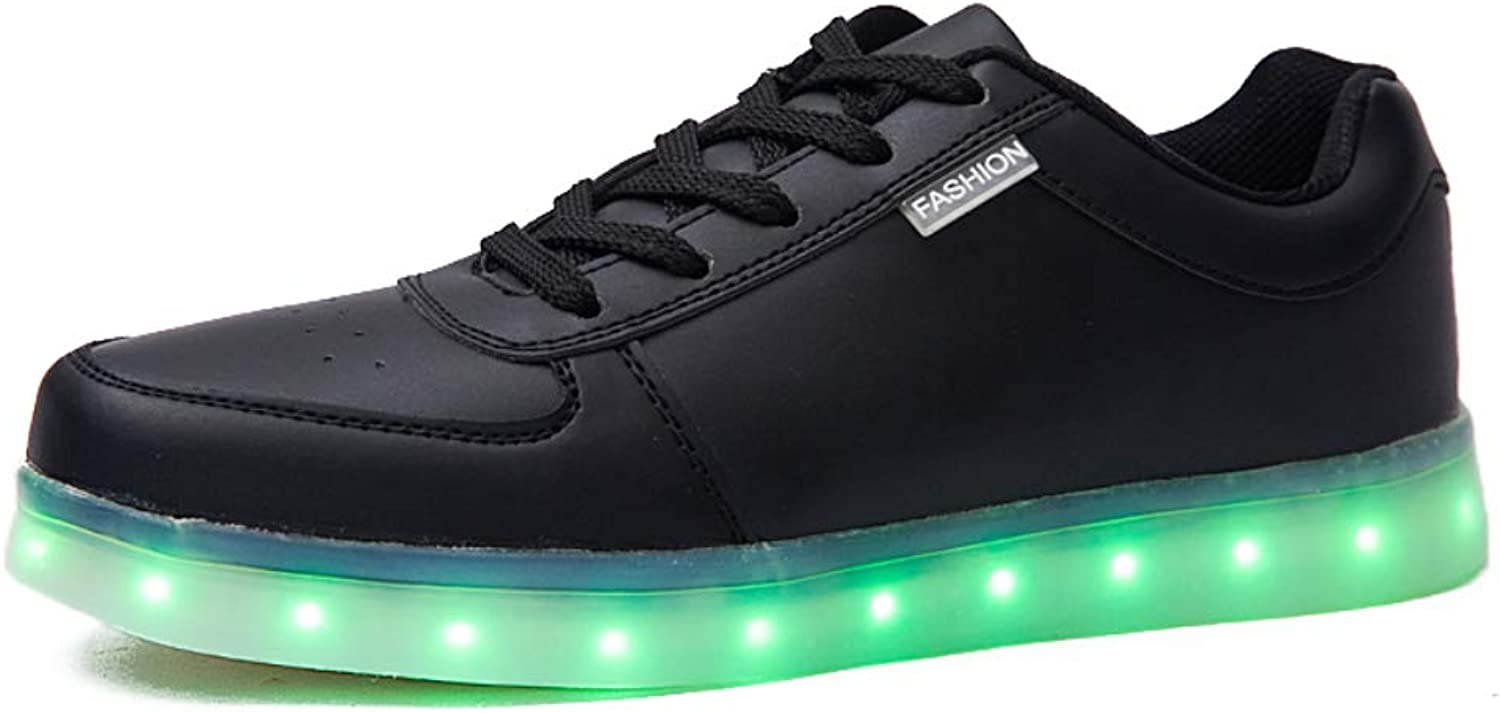 Men Women Boys and Girls Led Running shoes. 7 Variable Light colors. Outdoor Sports Technology Sneakers. Led Lights Can Be Charged Via USB Cable