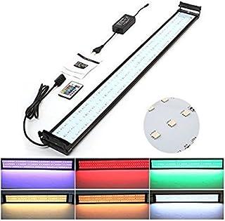 Amzdeal Lámpara Acuario Luces Impermeable LED para Acuarios de Peces y Estanques con Control Remoto (