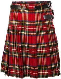 Yying Hombres Escoceses Kilt Tradicional Highland Utility Kilt Adultos Plaid Kilt Traje de Fiesta Steampunk Faldas Góticas