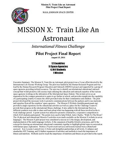 Mission X: Train Like an Astronaut. International Fitness Challenge (English Edition)