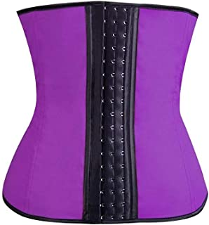 SMLCTY Waist Trainer, Corset Tummy Controller 3 Row Hook and Eye Body Shapewear,Adjustable and Durable,Accelerate Fat Burning,to be Slim by Healthy Way (Size : XL)