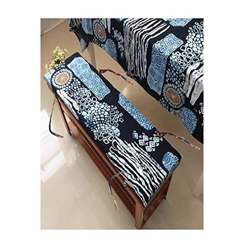 yzzseason Cojín de banco grueso, rectangular para asiento de banco, almohadilla suave para tumbona columpio para jardín al aire libre para 2 3 plazas (F,30 x 140 x 4 cm)