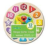 TCG Toys Sesame Street 12 Piece Shape Sorter Clock