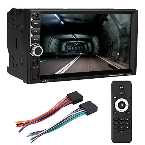 Goshyda Sistema Multimediale per Auto, Lettore Multimediale per Auto da 7' Doppio DIN HD Monitor Tattile Capacitivo Autoradio Lettore MP5 MP3, MP5-7036UM Lettore Bluetooth per Autoradio