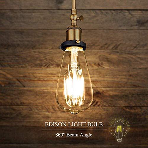 Edison Vintage Glühbirne, Edison LED Lampe E27 ST64