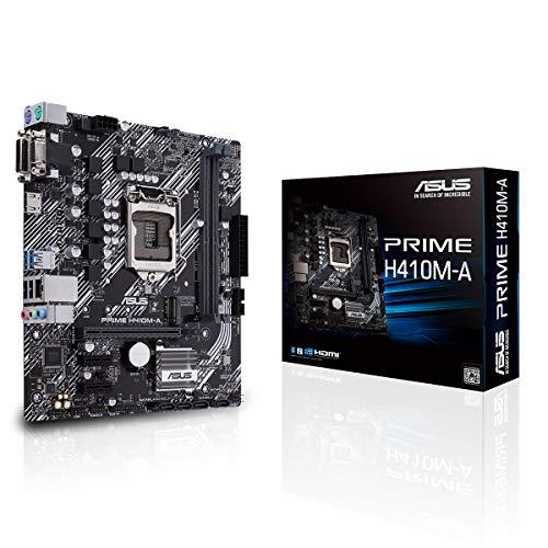 ASUS PRIME H410M-A, Scheda madre Intel H410 (LGA 1200) micro-ATX con supporto M.2, DDR4 2933MHz, HDMI, D-Sub, DVI, porte USB 3.2 Gen 1, SATA 6 Gbps, porta COM, porta TPM