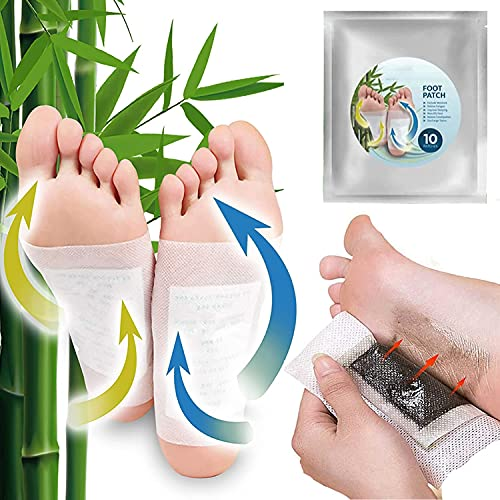 Nuubu Foot Patches - 20Pcs Pure Natural Wormwood Foot Care Detox Magic Patch, Takesumi Aromatic Herbal Dehumidification Foot Patch for Deodorant and Fresh Improve Sleep