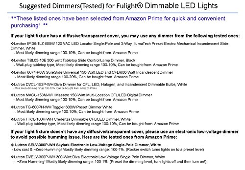 (2-Pack) Fulight Ballast-Bypass & True-Color T8 LED Tube Light (Dimmable)- 3FT 36-Inch 14W (25W Equivalent), Cool White 4500K, F25T8/CW, Double-End Powered, 110/120VAC - Full-Spectrum with 95CRI