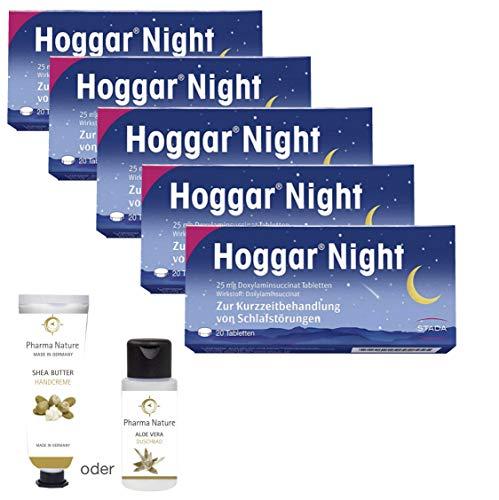 Bester der welt Beinhaltet Hogger Night Tablet, 5 x 20 Stück Werteset, pflegende Handcreme oder Duschbad…