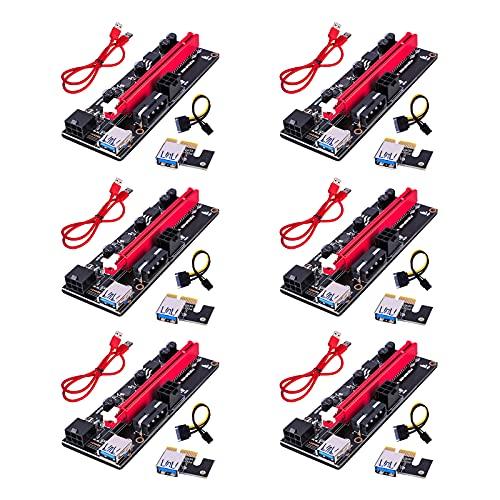DIFCUL PCIe Riser, 3 en 1 1x a 16x Pcie Riser Board...