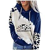 RoMantic Damen Casual Hoodies Kordelzug Pullover Oberbekleidung Pullover mit Tasche Sweatshirts Langarm