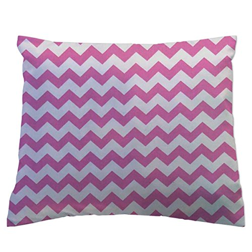 SheetWorld Crib / Toddler Percale Baby Pillow Case - Bubble Gum Pink...