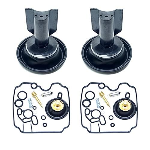 Kit de reparación de carburador Carb vacío diafragma émbolo flotador válvula de aguja piloto tornillo para XTZ750 XTZ 750
