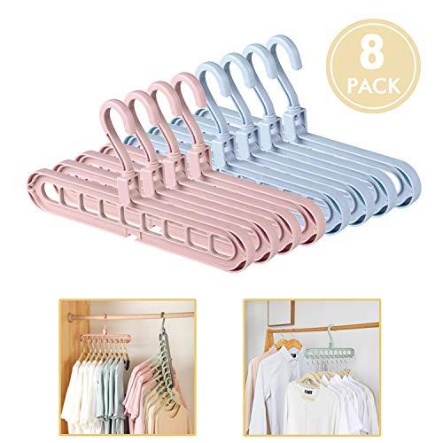 commercial ESOUL TECHNOLOGY Magic Hanger Wardrobe Space Saving Hanger Organizer Pack 8 Plastic… space saving hangers