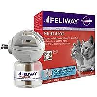「猫専用」尿のマーキング対策 フェリウェイ Feliway MultiCat Diffuser Starter Kit 専用拡散器+リキッド48mL [並行輸入品]