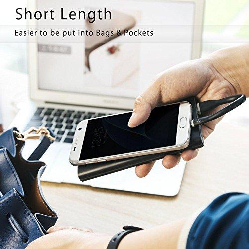 BigBlue Micro USB Kabel Silikon (2-Pack, 25cm) Android Smartphone Ladekabel, Soft Sync Schnellladekabel für Samsung, HTC, Nokia, Nexus, Sony und weitere (schwarz+weiß), MEHRWEG