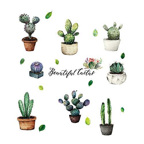 Cactus In creatieve vaas sticker wandsticker voor slaapkamer persoonlijkheid restaurant keuken kast decoratie wandsticker muursticker