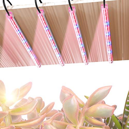 TOPLANET Lampada per Piante, 40W Grow Light, 64 Chips LED 4 Livelli Dimmerabili Luce per Piante con Timer 3H/6H/12H, Spettro Rosso Blu Lampada Coltivazione Indoor per Piante da Interno
