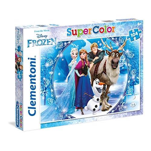 Clementoni- Frozen Supercolor Puzzle, 104 Pezzi, 27956