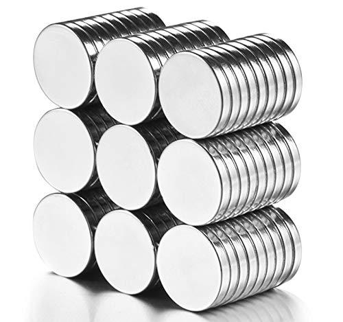 MEIXI Neodym Magnete Extra Stark, Magnete für Magnettafel, Whiteboard magnet, Magnete kühlschrank Magnets für Whiteboard, Pinnwand, Magnettafel bänder(12 x 2mm 80 Stücke)