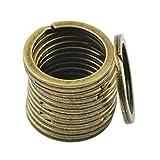 TO_GeT For Home Tools_TgT 12PCS 28mm Split Hoop Key Rings Key Chain Holder Antique Bronze DIY