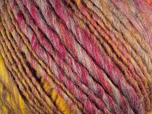 Lana Grossa - Olympia - Fb. 78 pink/grau-/gelbgrün/orangebraun/zyklam 100 g