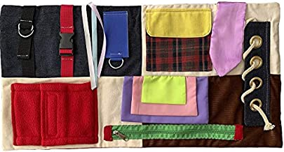 Fidget Blanket for Dementia Patients Activity Pad for Alzheimer's Memory Loss and Anxiety Relief