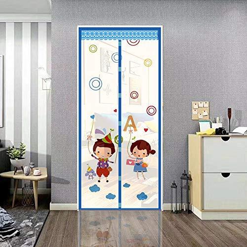 Strak verzegeld magnetisch deurscherm met elegante uitstraling Scheurbestendig en stabiel materiaal Magneetstreepgordijn Eenvoudige installatie Magnetische horren voor deur,90 * 210