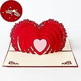 Carta per San Valentino,Deesos Compleanno regalo per i parenti, Amici e amanti speciali, b...