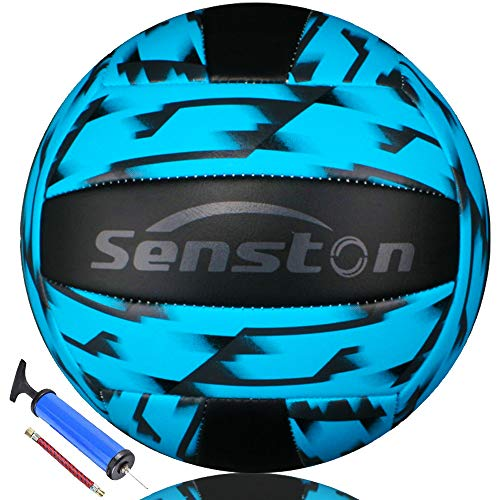 Senston Volleyball Waterproof Beach Soft Blue Volleyball for Indoor/Outdoor Play, Game,Training Official Size 5