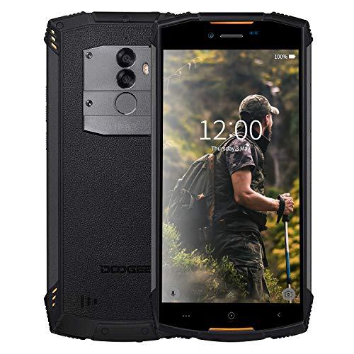 Doogee S55 Teléfono Móvil Libres 4G Dual SIM, Sistema Android 8, Pantalla 5.5'' de IPS, IP68 Impermeable Prueba de Golpes y Polvo, Batería 5500 mAh,4G RAM+64G ROM, Octa-Core 1.3GHz, WiFi, (Naranja)