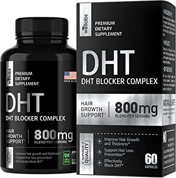 DHT Blocker Hair Growth Supplement - Made in USA - For Men & Women - Reduce Hair Loss & Regrow Hair with Saw Palmetto & Biotin - Prostate Health Support - 60 Capsules