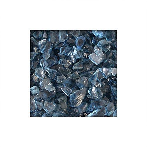 20 kg Glassplitt Glasbruch Glassteine Glas Splitt Deko Farben Dark Blue