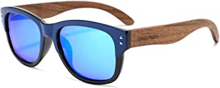 GREENTREEN Polarized Walnut Wood Sunglasses for Men and Women   Black Polarized Lenses and Real Wooden Frame   100% UVA/UV...