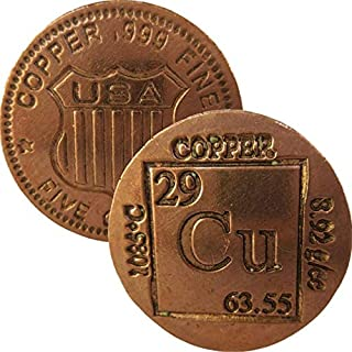 5 oz. Thick Copper Round Bars from .999 Pure Copper